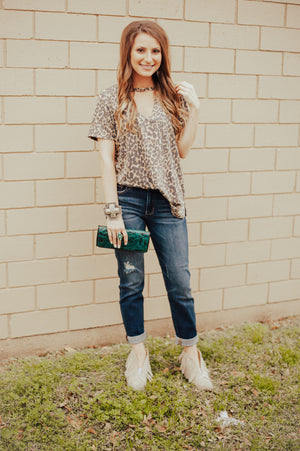 The Leopard Cut Out Top - Ny Texas Style Boutique