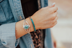 The Little Lovin' Turquoise Stacker Cuff - Ny Texas Style Boutique