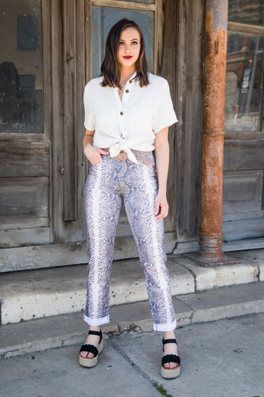 The Grey Snake Boyfriend Jean - Ny Texas Style Boutique