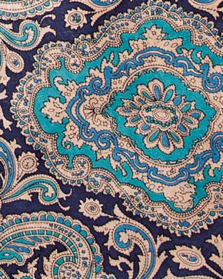 Blue & Gold Paisley Wild Rag - Ny Texas Style Boutique