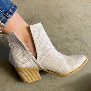 The Silver Springs White Booties - Ny Texas Style Boutique