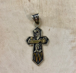 The W Spur Cross Pendant - Ny Texas Style Boutique