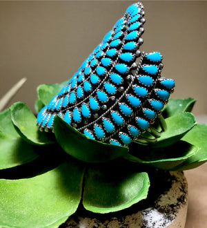 The Tall City Blues Cuff - Ny Texas Style Boutique