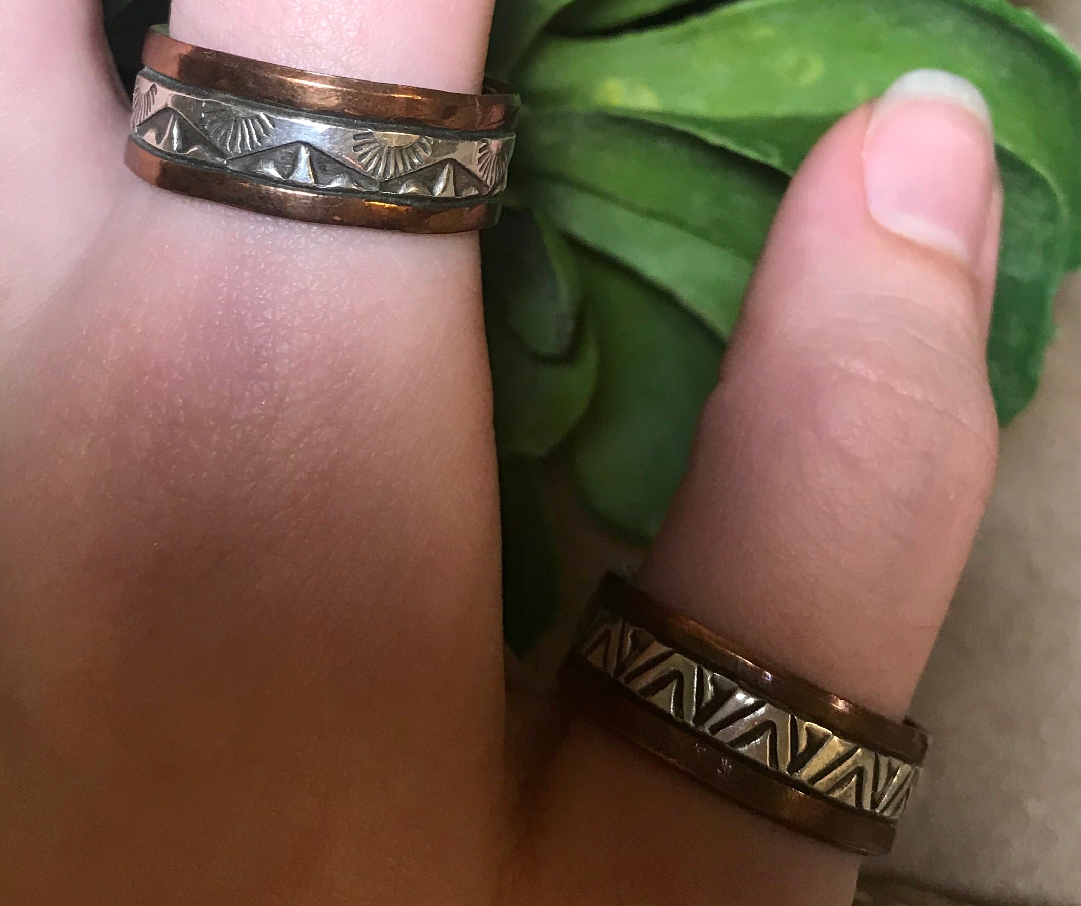 The Aztec Band Rings - Ny Texas Style Boutique
