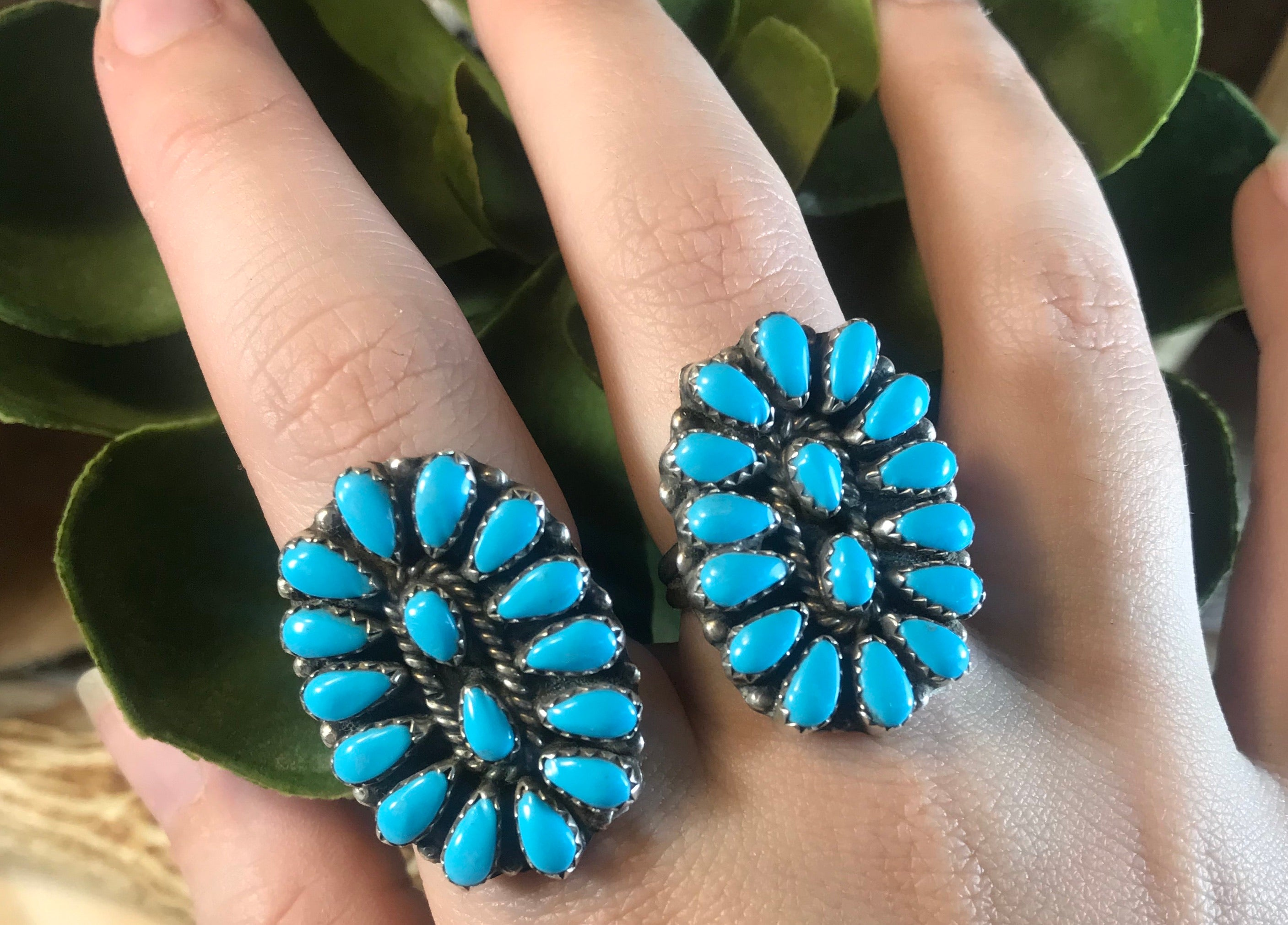 The Johnson Turquoise Cluster Ring - Ny Texas Style Boutique