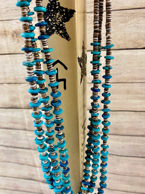 The Rhonda 3 strand Turquoise Necklace - Ny Texas Style Boutique