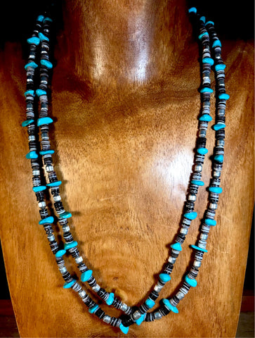 The Ellie Turquoise 2 strand Necklace - Ny Texas Style Boutique