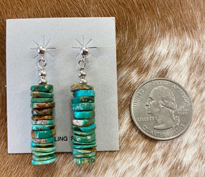 The Kayla Turquoise Earrings - Ny Texas Style Boutique