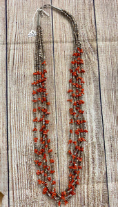The Golden Coral Necklace - Ny Texas Style Boutique