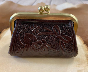 The Brown Tooled Leather Coin Purse
