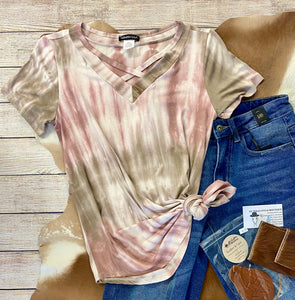 The Pink Tie Dye Top - Ny Texas Style Boutique