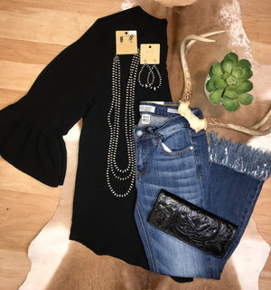 The Anna Black Top - Ny Texas Style Boutique