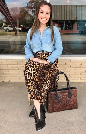 The Sissy Denim Button down - Ny Texas Style Boutique