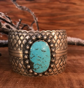 Speechless Turquoise Stone Cuff - Ny Texas Style Boutique