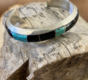 The ELC Turquoise & Onyx Cuff - Ny Texas Style Boutique