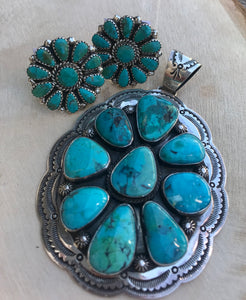 The Bobbi Jo Turquoise Pendant - Ny Texas Style Boutique