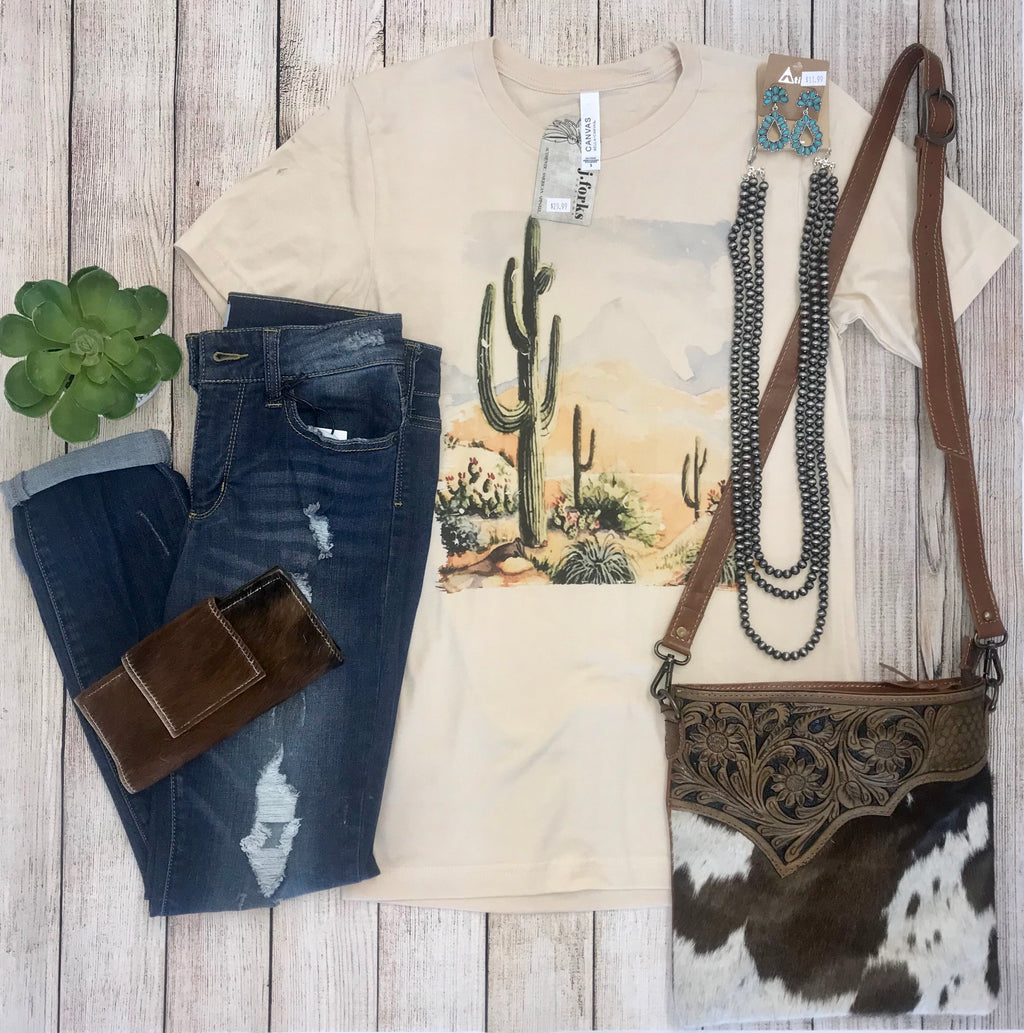 The Cacti Tee - Ny Texas Style Boutique