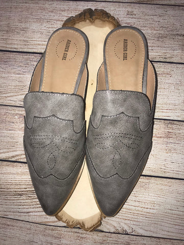 The Fly Like An Eagle Gray Mules - Ny Texas Style Boutique