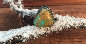 The Georgia Green Turquoise Ring - Ny Texas Style Boutique