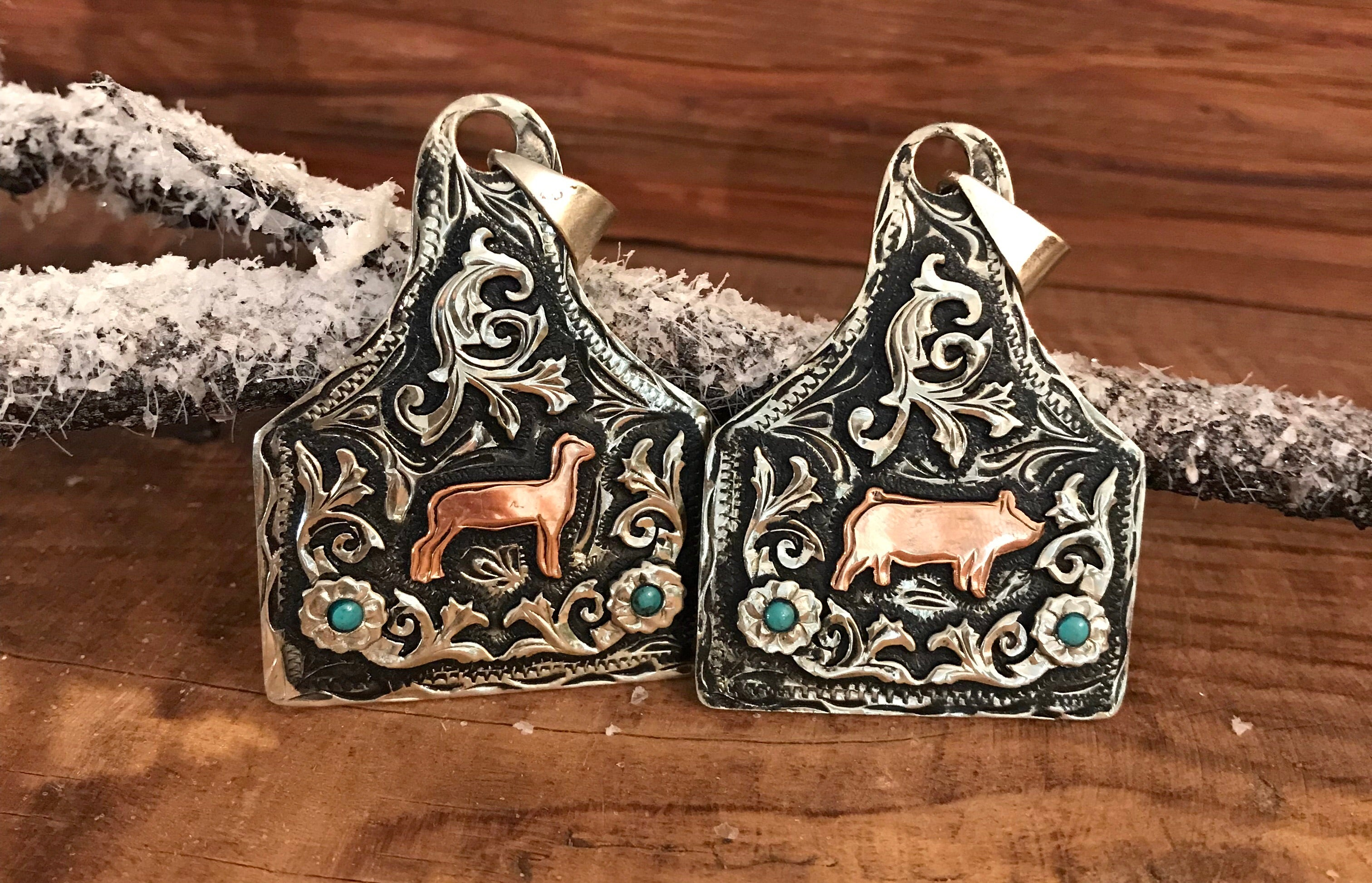 Ear Tag Pendants (In Stock) - Ny Texas Style Boutique