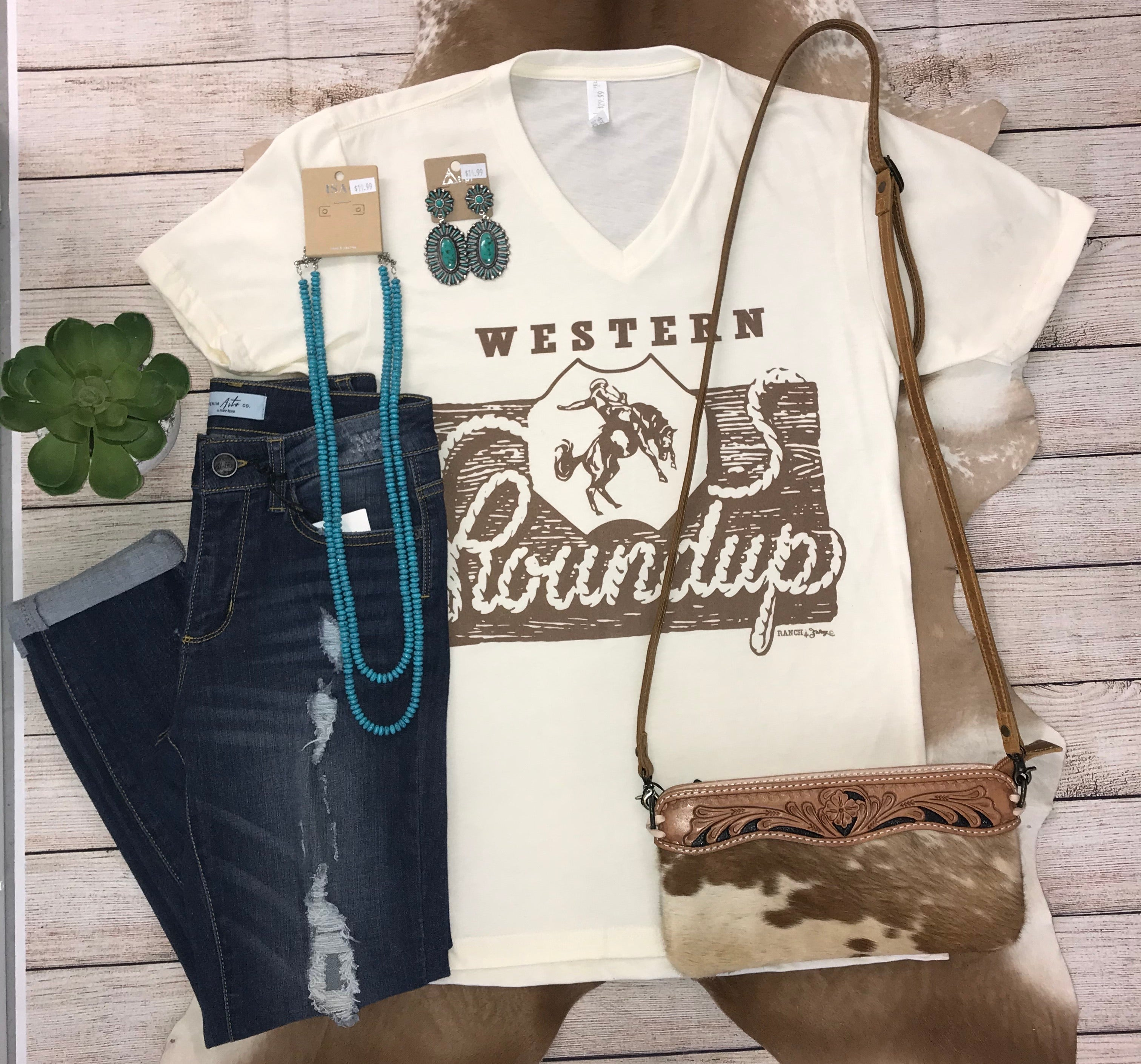 The Western Roundup Tee - Ny Texas Style Boutique