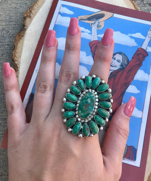 The Big John Large Cluster Ring - Ny Texas Style Boutique
