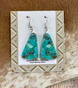 The Don Turquoise Slab Earrings - Ny Texas Style Boutique