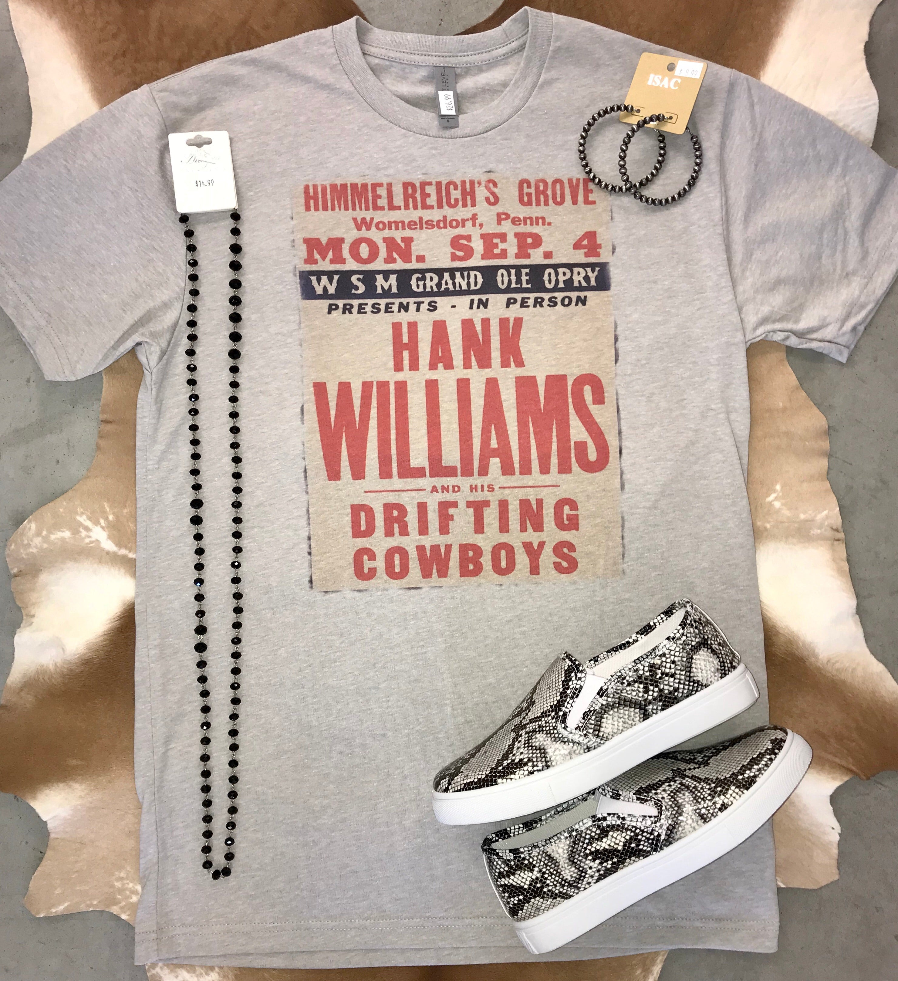 The Hank Williams Tee - Ny Texas Style Boutique