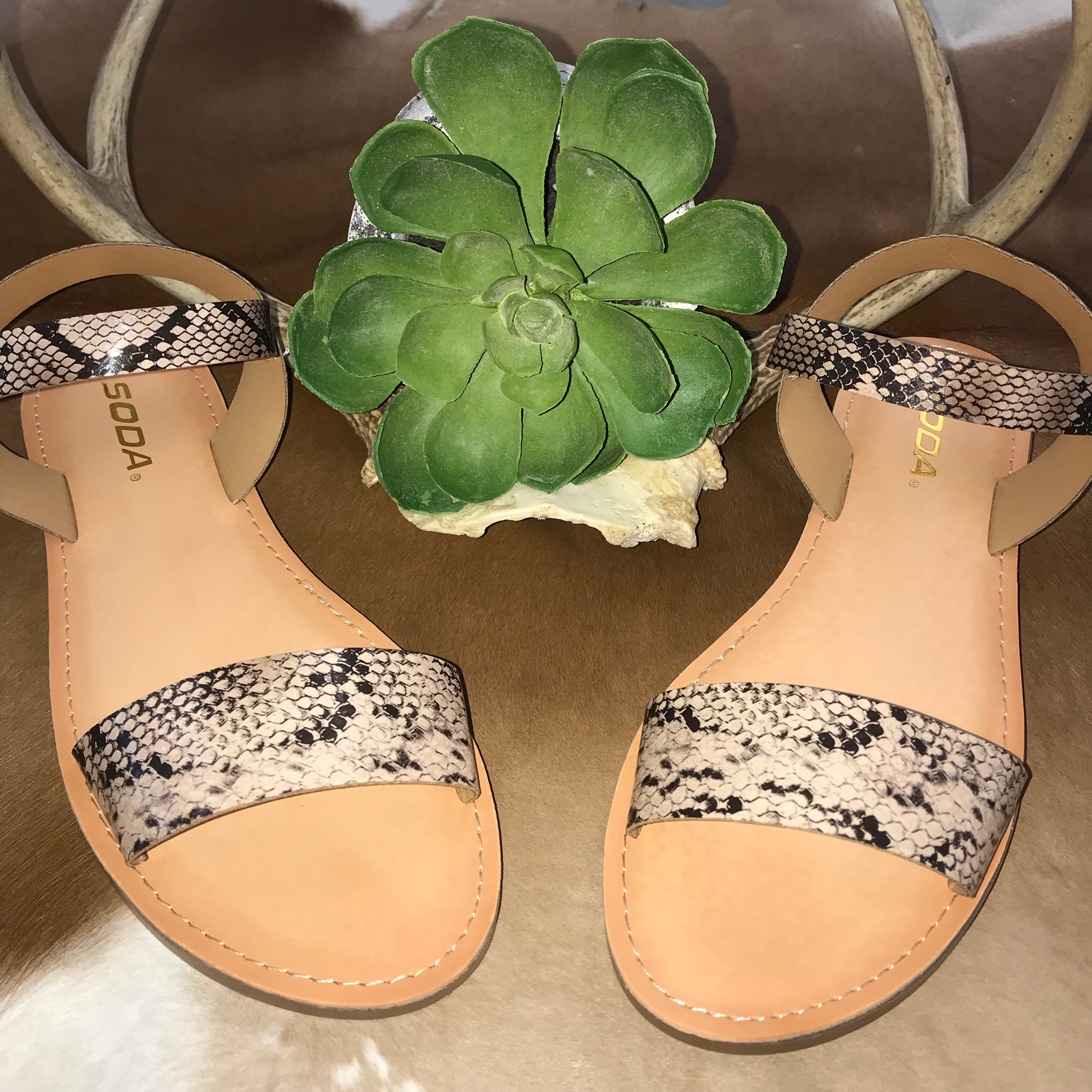 The Musgraves Snakeskin Sandal - Ny Texas Style Boutique
