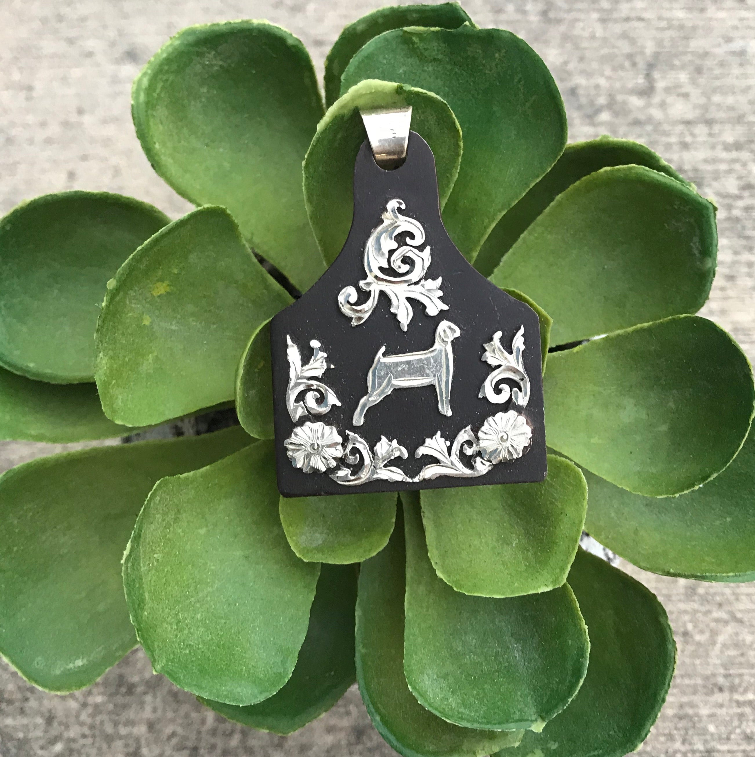 The Goat Ear Tag Pendant - Ny Texas Style Boutique