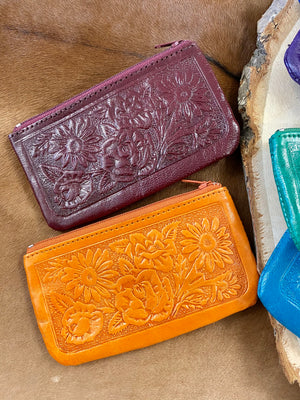 The Small Tooled Leather Wallet