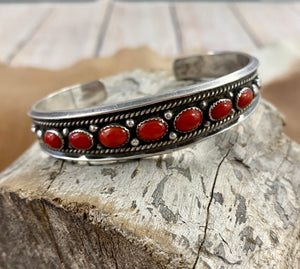 The Wild Cheery Coral Cuff - Ny Texas Style Boutique
