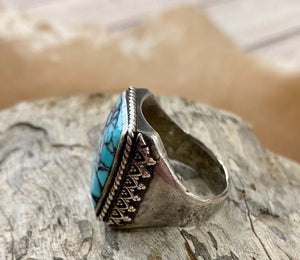 The Garrison Turquoise Ring - Ny Texas Style Boutique
