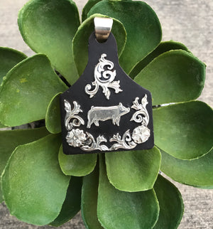 The Pig Ear Tag Pendant - Ny Texas Style Boutique
