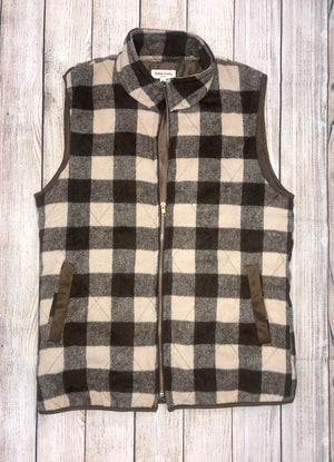 The Brown Plaid Vest - Ny Texas Style Boutique