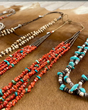 The Aurora Turquoise & Coral Necklace - Ny Texas Style Boutique