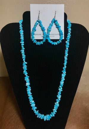 """Babies Blue"" Turquoise Earrings - Ny Texas Style Boutique"