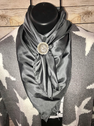 Charcoal Solid Wild Rag - Ny Texas Style Boutique