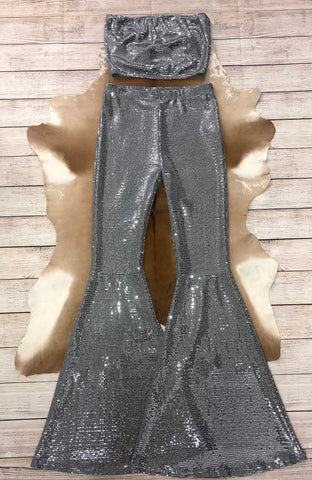The Cher Tube Top & Bell Bottom Set WE ARE RE-STOCKING - Ny Texas Style Boutique
