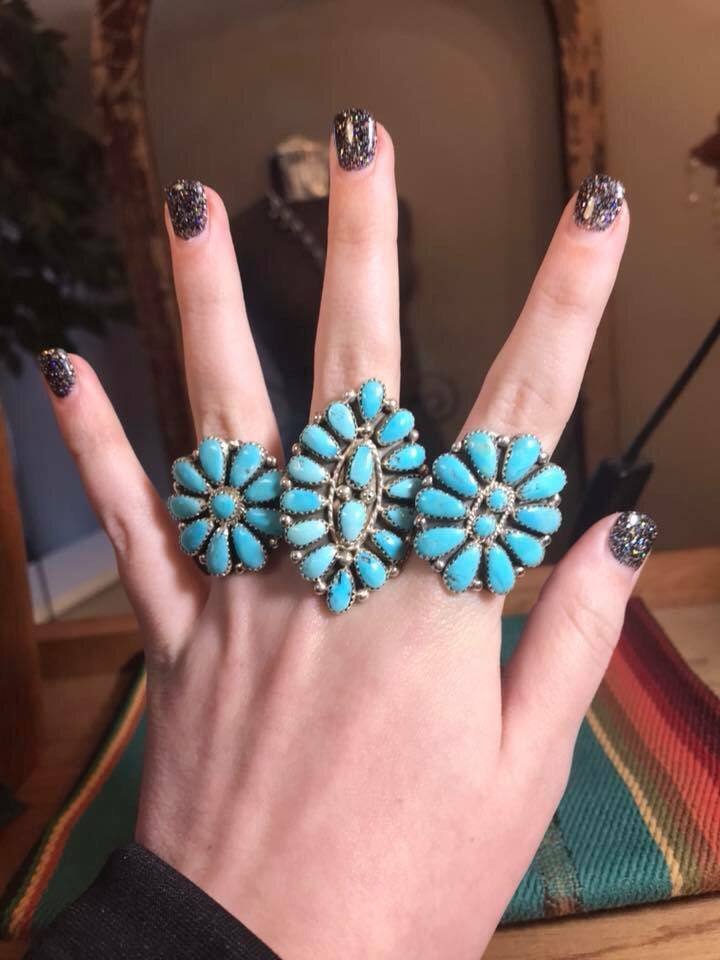 The Sissy Turquoise Cluster Ring - Ny Texas Style Boutique