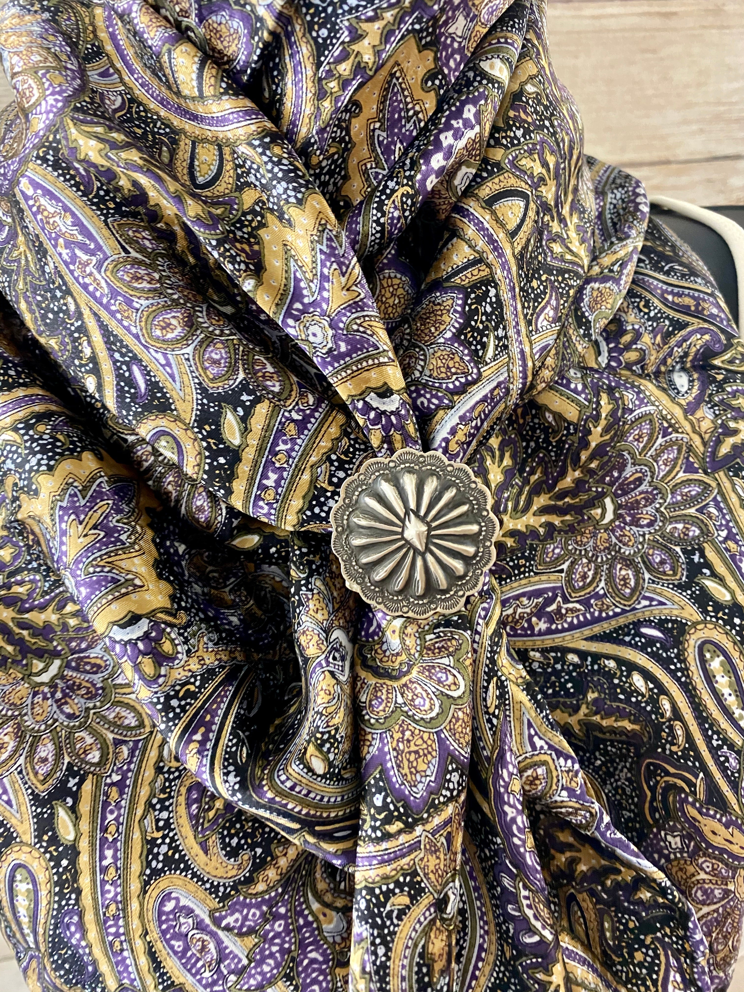 The Purple Paisley Wild Rag - Ny Texas Style Boutique