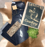 Lonesome Cowboy Tee - Ny Texas Style Boutique