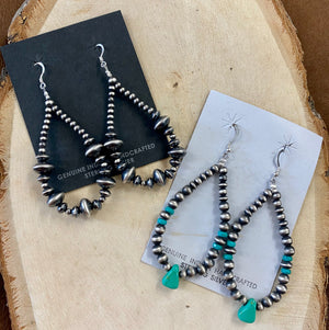 The Pecos Turquoise & Navajo Pearl Earrings - Ny Texas Style Boutique