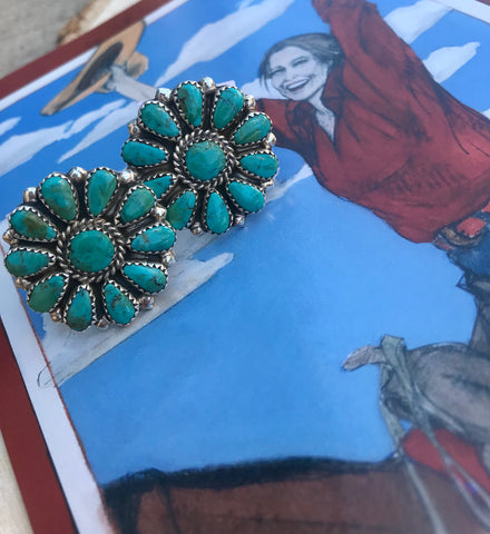 The Darlin' Turquoise Cluster Rings - Ny Texas Style Boutique
