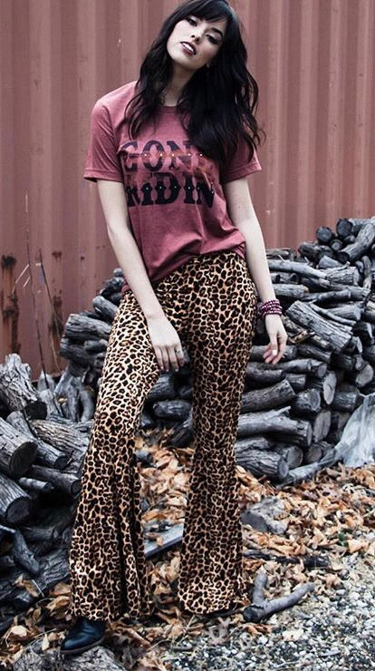 Leopard Bell Bottoms - Ny Texas Style Boutique