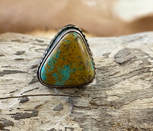 The Georgia Green Turquoise Ring (Size 8) - Ny Texas Style Boutique