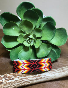 Red Tango Beaded Cuff - Ny Texas Style Boutique