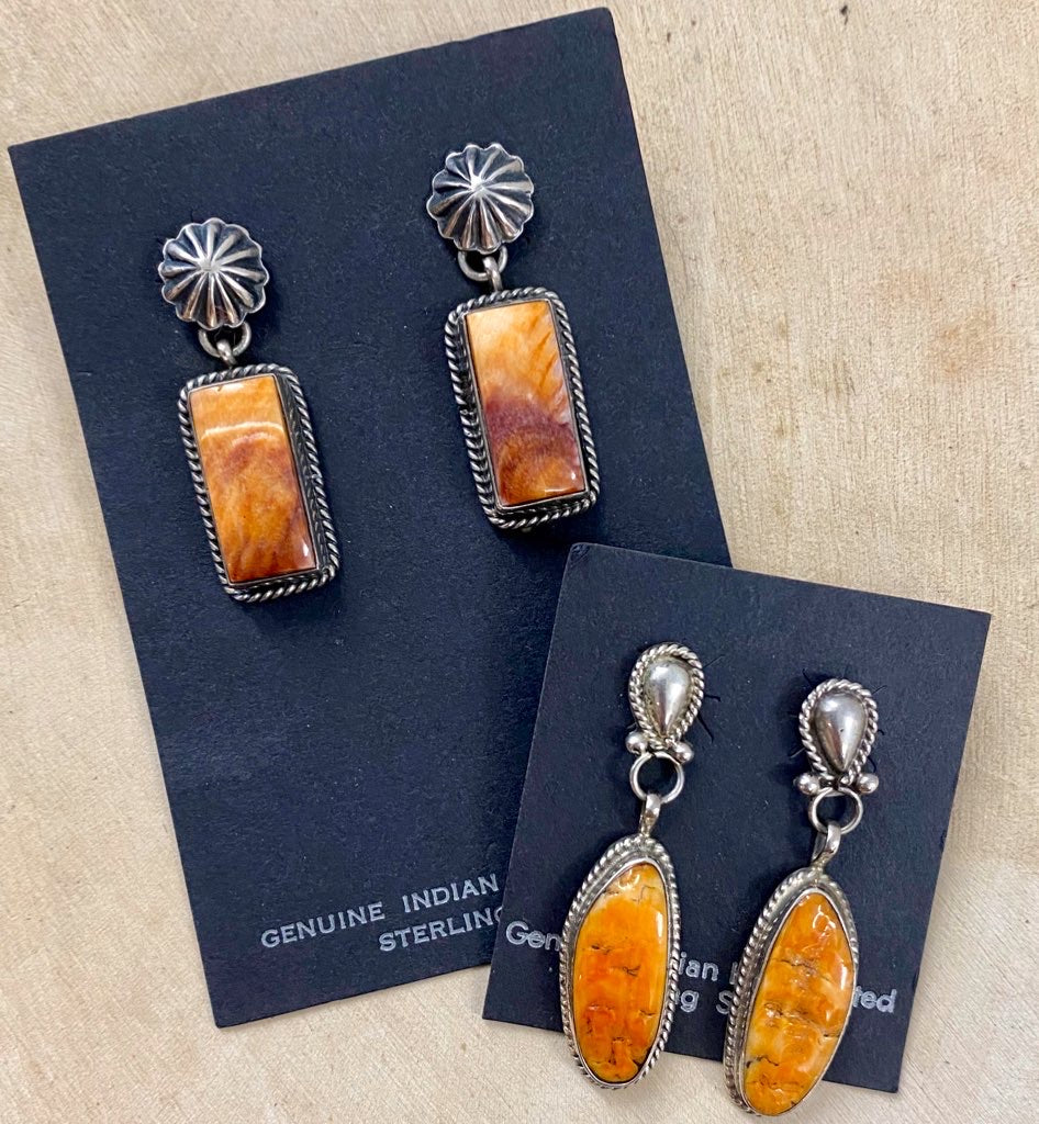 The Derrick Spiny Oyster Earrings - Ny Texas Style Boutique