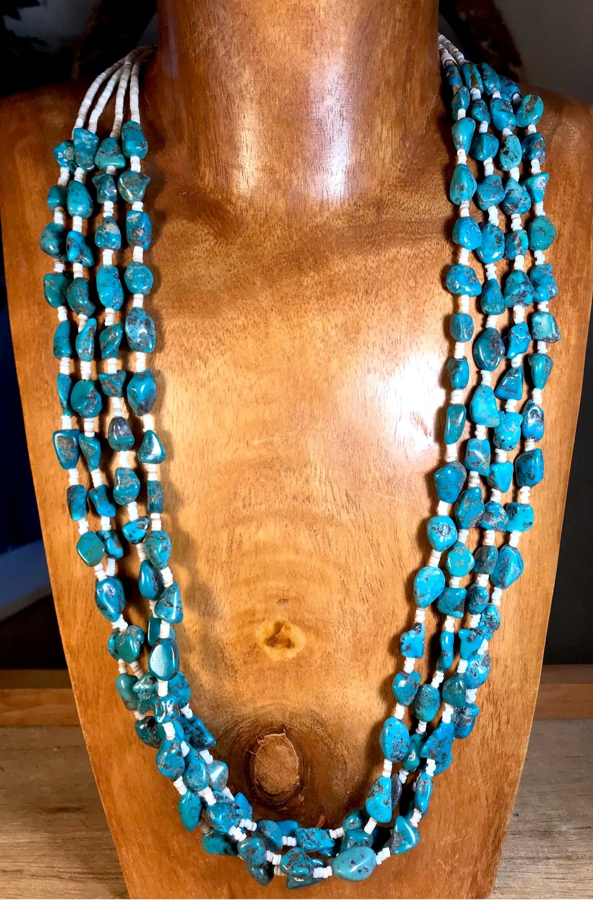 The Sherry 4 strand Turquoise Necklace - Ny Texas Style Boutique