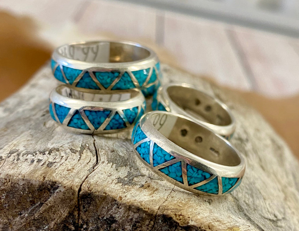 The Turquoise Ring Bands - Ny Texas Style Boutique